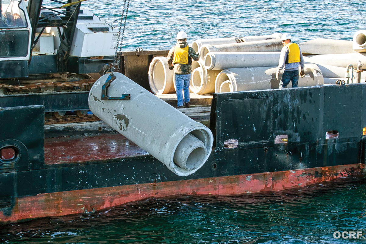 OC Reef Foundation drops artificial reef material