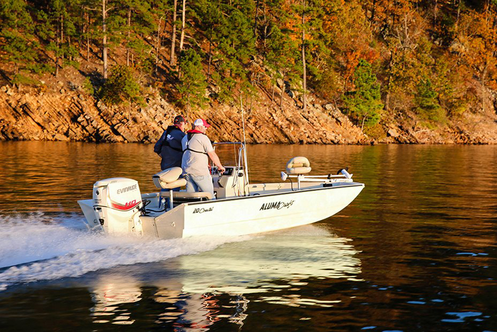alumacraft mv2072 aw bay fishing boat