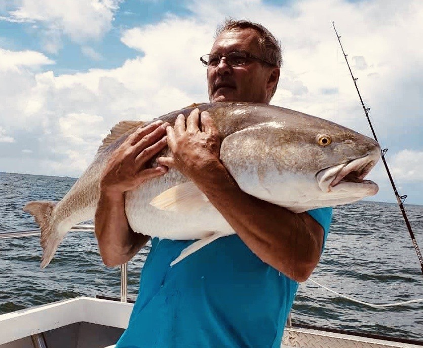 giant redfish caught at cbbt