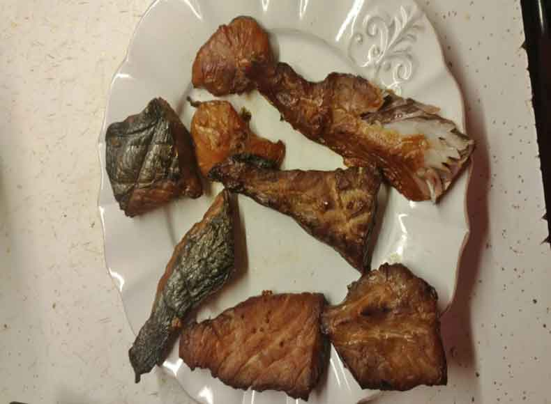 smoked bluefish chunks