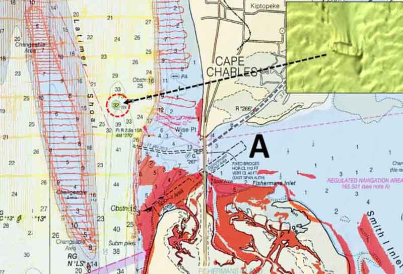 chart of cape charles fishing near cbbt