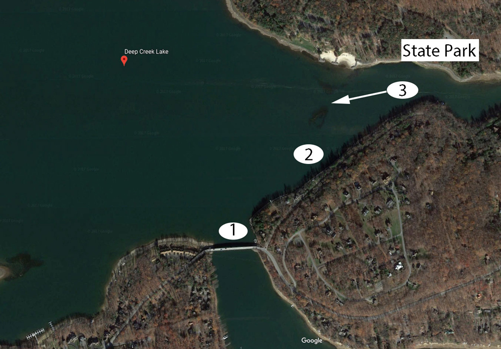 deep creek lake fishing map