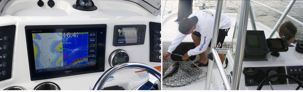 mount a fishfinder on a boat