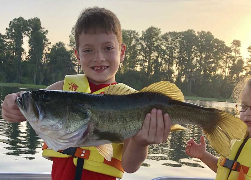 kid with huge bass