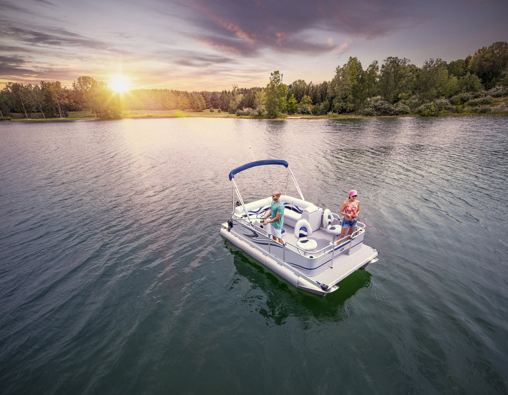 pontoon fishing boat for under $10,000