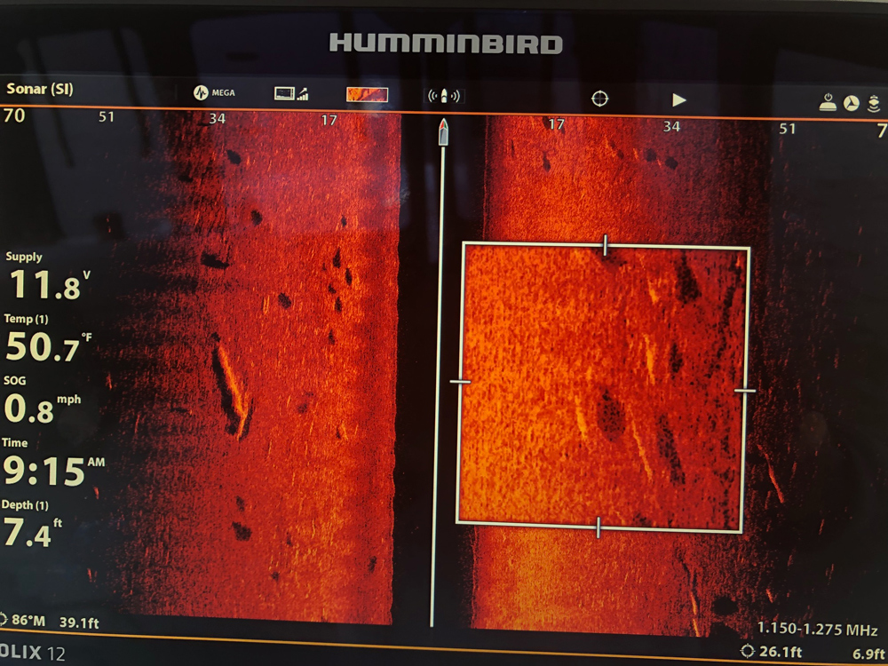 humminbird side imaging on screen