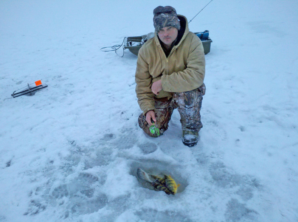basic ice fishing gear for yellow perch