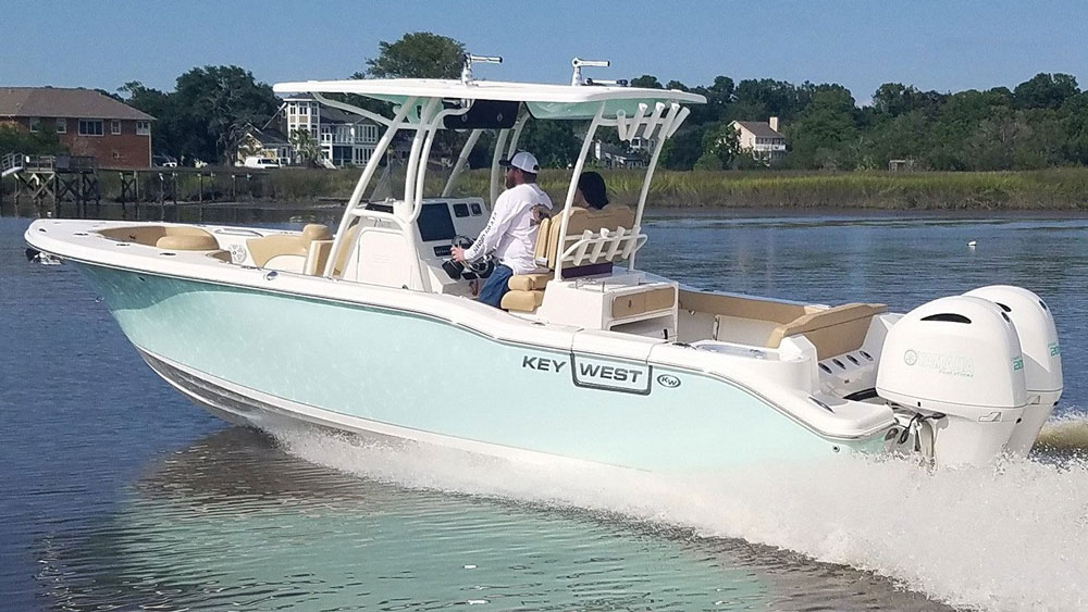 key west center console fishing boat 263fs