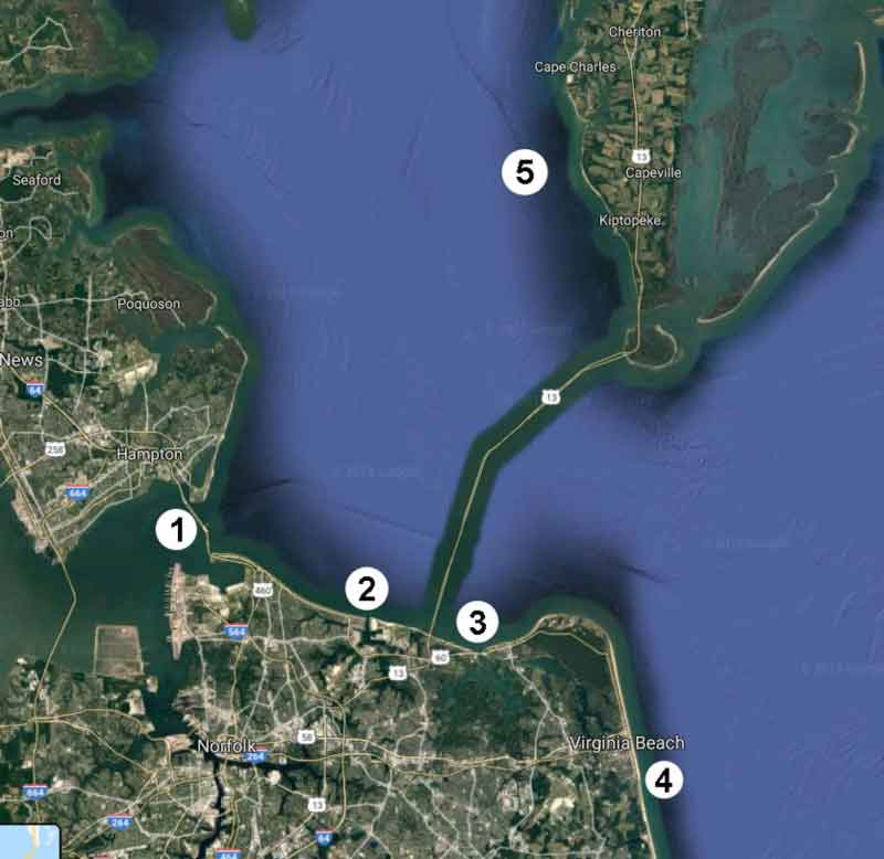 hotspots in virginia chesapeake bay waters