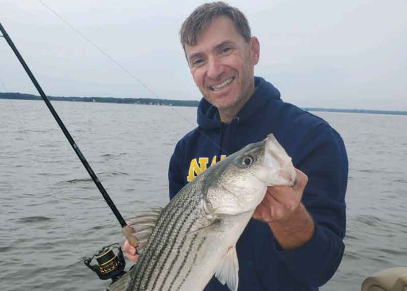 striper on the middle bay
