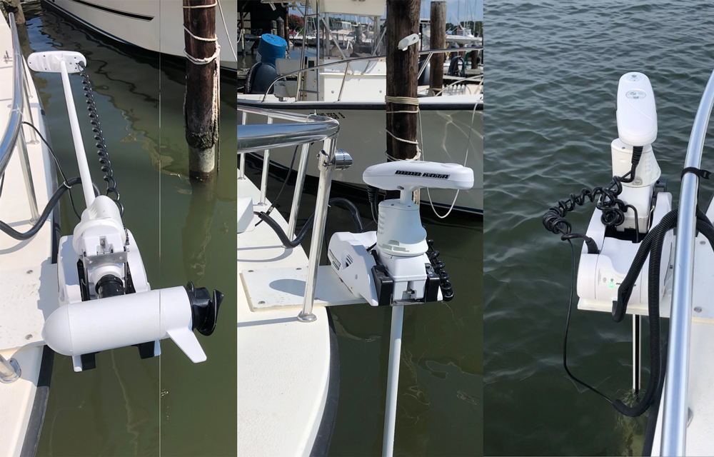 electric trolling motor on bow