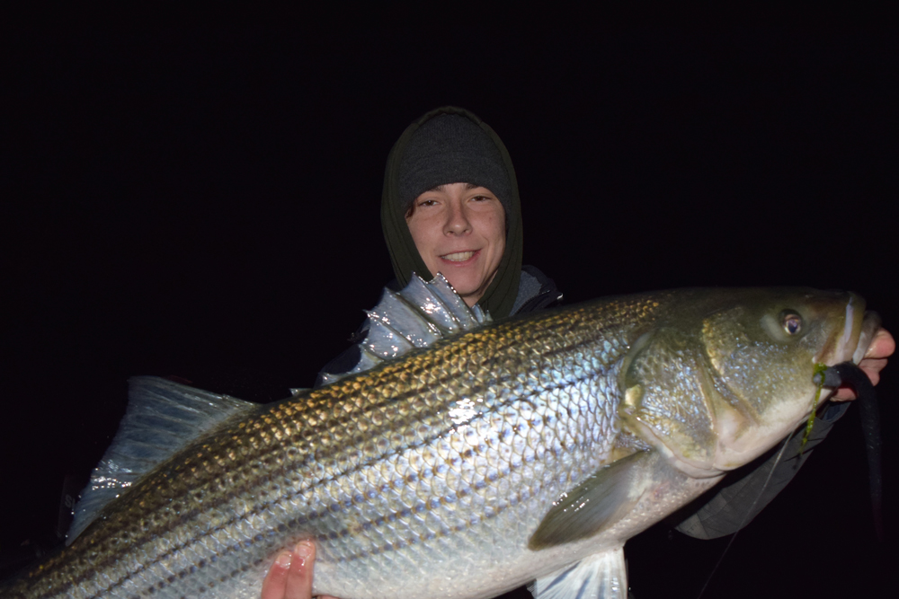 Night fishing for stripers fishtalk magazine for Striper fishing at night