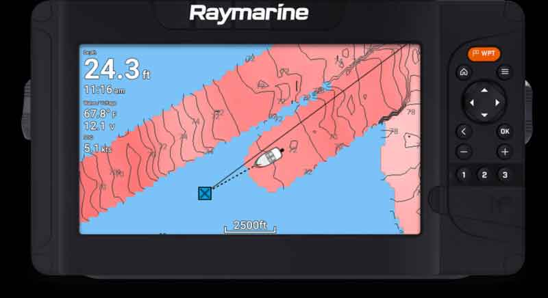 raymarine self charting
