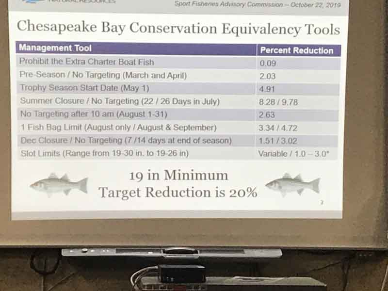 proposed striped bass regulation changes