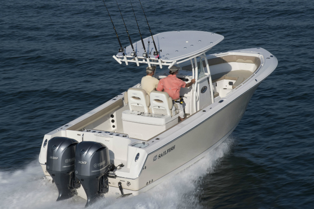 sailfish center console fishing boat
