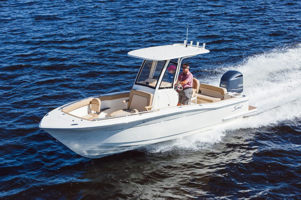 scout 235 xsf center console boat