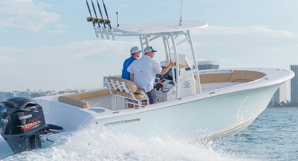 sportsman 232 open center console fishing boat