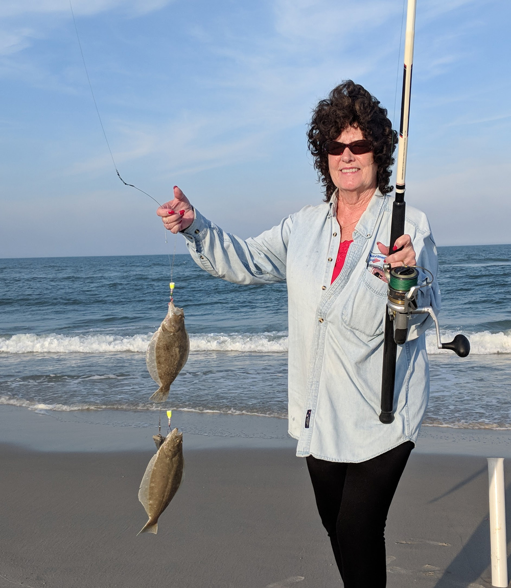 flounder caught fishing in the surf
