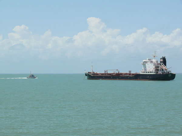 fishing around tanker ships