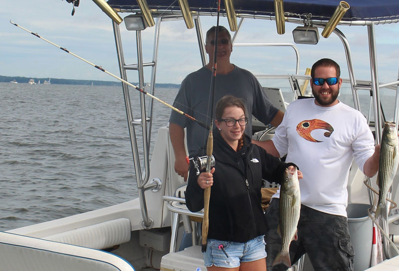 trolling for striped bass