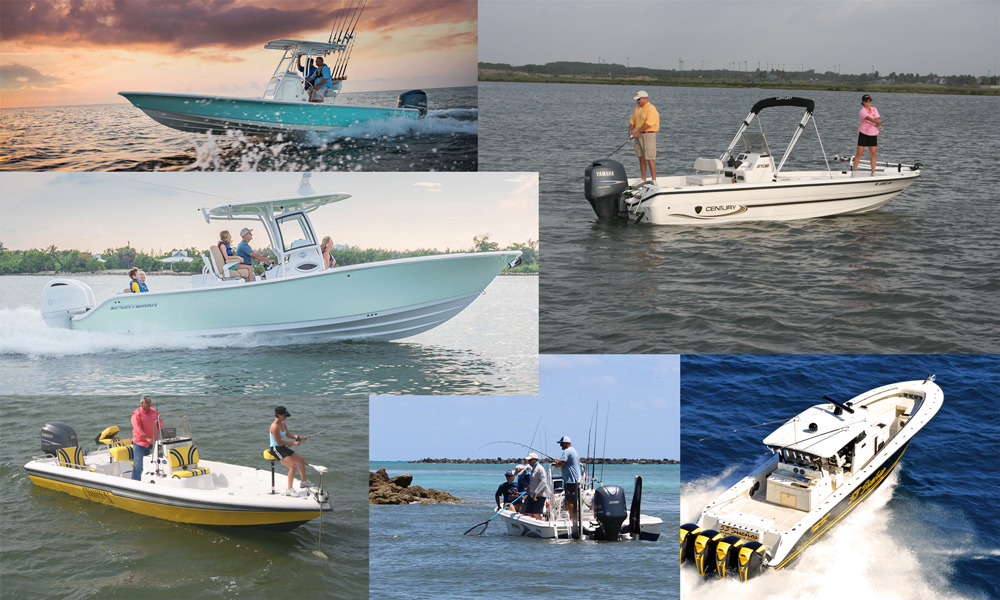 different center console fishing boats